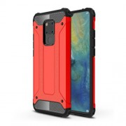 Armor Guard Plastic + TPU Hybrid Cover Shell Case for Huawei Mate 20 X - Red