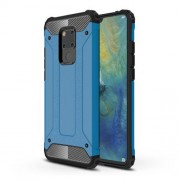 Armor Guard Plastic + TPU Combo Cover Phone Case for Huawei Mate 20 X - Baby Blue