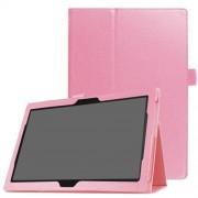 Δερμάτινη Θήκη Βιβλίο με Βάση Στήριξης για Lenovo Tab 4 10 Plus - Ροζ