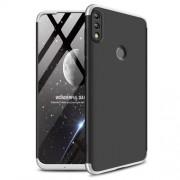 GKK 360 μοιρών Σκληρή Θήκη Ματ με Βελούδινη Υφή Πρόσοψης και Πλάτης για Huawei P Smart (2019) / Honor 10 Lite - Μαύρο/Ασημί