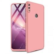 GKK 360 μοιρών Σκληρή Θήκη Ματ με Βελούδινη Υφή Πρόσοψης και Πλάτης για Huawei P Smart (2019) / Honor 10 Lite - Ροζέ Χρυσαφί