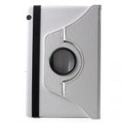 Περιστρεφόμενη Δερμάτινη Θήκη Βιβλίο με Βάση Στήριξης Huawei MediaPad T5 10 - Λευκό