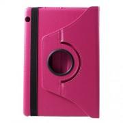 Περιστρεφόμενη Δερμάτινη Θήκη Βιβλίο με Βάση Στήριξης Huawei MediaPad T5 10 - Φούξια