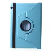 Περιστρεφόμενη Δερμάτινη Θήκη Βιβλίο με Βάση Στήριξης Huawei MediaPad T5 10 - Γαλάζιο