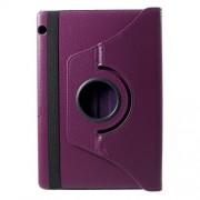 Περιστρεφόμενη Δερμάτινη Θήκη Βιβλίο με Βάση Στήριξης Huawei MediaPad T5 10 - Μωβ