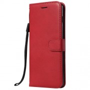 Wallet Leather Stand Cover for Samsung Galaxy S10 Plus - Red