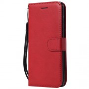 Wallet Leather Stand Cover for Samsung Galaxy S10 - Red