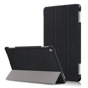 Δερμάτινη Θήκη Βιβλίο Tri-Fold με Βάση Στήριξης για Huawei Mediapad M5 Lite 10 / C5 10 - Μαύρο