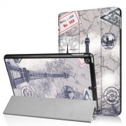 Patterned Tri-fold Stand Smart Wake Sleep Leather Case for iPad 9.7 (2018) / 9.7 (2017) - Eiffel Tower