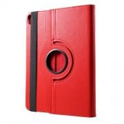 Περιστρεφόμενη Δερμάτινη Θήκη Βιβλίο με Βάση Στήριξης για iPad Pro 12.9-inch (2018) - Κόκκινο