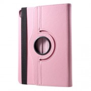 Litchi Texture 360° Swivel Leather Stand Tablet Shell for iPad Pro 12.9-inch (2018) - Pink