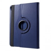 360 Degree Rotary Stand Litchi Grain Leather Cover for iPad Pro 12.9-inch (2018) - Dark Blue