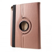Litchi Grain 360 Degree Rotary Stand Leather Cover for iPad Pro 11-inch (2018) - Rose Gold