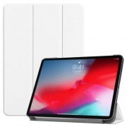 PU Leather Tri-fold Stand Smart Cover for iPad Pro 11-inch (2018) - White