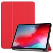 PU Leather Tri-fold Stand Smart Tablet Case for iPad Pro 11-inch (2018) - Red