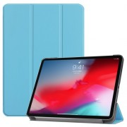 Tri-fold Stand PU Leather Smart Tablet Case for iPad Pro 11-inch (2018) - Baby Blue