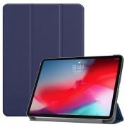 Δερμάτινη Θήκη Βιβλίο Tri-Fold με Βάση Στήριξης για iPad Pro 11-inch (2018) - Σκούρο Μπλε