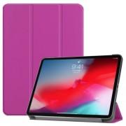 Δερμάτινη Θήκη Βιβλίο Tri-Fold με Βάση Στήριξης για iPad Pro 11-inch (2018) - Μωβ