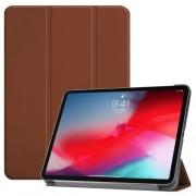 Δερμάτινη Θήκη Βιβλίο Tri-Fold με Βάση Στήριξης για iPad Pro 11-inch (2018) - Καφέ