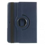 Περιστρεφόμενη Δερμάτινη Θήκη Βιβλίο με Βάση Στήριξης για Samsung Galaxy Tab 4 10.1 T530 T531 T535 - Σκούρο Μπλε