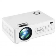 AK-80 Smart LCD HDMI Portable Home Cinema Theater Projector - White / EU Plug