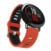 Two-tone Silicone Watch Strap Replacement for Xiaomi Huami Amazfit - Red / Black