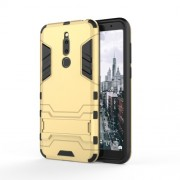 Cool Guard Kickstand Plastic TPU Hybrid Case for Meizu M6T - Gold