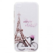 Ultra-thin Patterned Soft TPU Back Mobile Phone Cover for Xiaomi Redmi 5A - Eiffel Tower and Bicycle