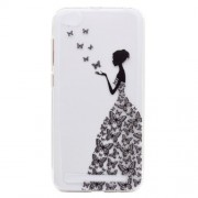 Ultra-thin Patterned Soft TPU Back Cell Phone Cover for Xiaomi Redmi 5A - Butterfly Girl