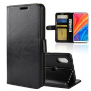 Crazy Horse Wallet Leather Stand Case for Xiaomi Mi Mix 2s - Black