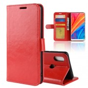Crazy Horse Leather Stand Case with Card Slots for Xiaomi Mi Mix 2s - Red
