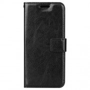BTRCASE Crazy Horse Leather Wallet Case for Samsung Galaxy A8 Plus (2018) - Black