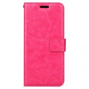 BTRCASE Crazy Horse Wallet Leather Stand Case for Samsung Galaxy A8 Plus (2018) - Rose