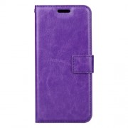 BTRCASE Crazy Horse Wallet Leather Stand Cover for Samsung Galaxy A8 Plus (2018) - Purple