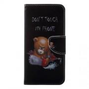 Δερμάτινη Θήκη Πορτοφόλι με Βάση Στήριξης για Huawei Honor Play - Θυμωμένο Αρκουδάκι