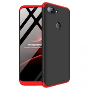 GKK 360 μοιρών Σκληρή Θήκη Ματ με Βελούδινη Υφή Πρόσοψης και Πλάτης για Xiaomi Mi 8 Lite / Mi 8 Youth (Mi 8X) - Μαύρο / Κόκκινο