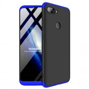 GKK [Detachable 3-Piece] Matte Hard Back Cell Phone Case for Xiaomi Mi 8 Lite / Mi 8 Youth (Mi 8X) - Black / Blue
