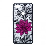 Embossed Flower Pattern TPU + PC Combo Mobile Phone Case for Xiaomi Mi 8 Lite / Mi 8 Youth (Mi 8X) - Big Red Flower