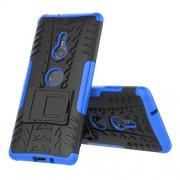 Υβριδική Θήκη Σιλικόνης TPU σε Συνδυαμό με Πλαστικό (Όψη Ελαστικού) για Sony Xperia XZ3 - Μπλε