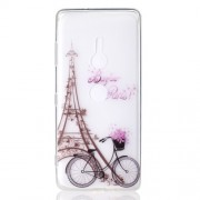 Pattern Printing TPU Back Cover for Sony Xperia XZ3 - Eiffel Tower and Bicycle
