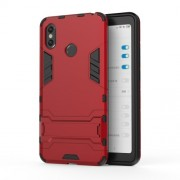 Cool Guard Plastic TPU Hybrid Mobile Phone Casing with Kickstand for Xiaomi Mi Max 3 - Red