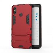 Υβριδική Θήκη Συνδυασμού Σιλικόνης TPU και Πλαστικού με Βάση Στήριξης για Xiaomi Mi Max 3 - Κόκκινο