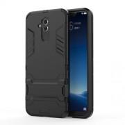 Υβριδική Θήκη Συνδυασμού Σιλικόνης TPU και Πλαστικού με Βάση Στήριξης για Huawei Mate 20 Lite - Μαύρο
