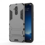 Cool Guard PC TPU Hybrid Mobile Phone Shell with Kickstand for Huawei Mate 20 Lite - Grey