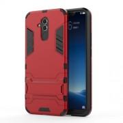 Υβριδική Θήκη Συνδυασμού Σιλικόνης TPU και Πλαστικού με Βάση Στήριξης για Huawei Mate 20 Lite - Κόκκινο