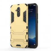 Cool Guard PC TPU Hybrid Mobile Phone Casing Shell with Kickstand for Huawei Mate 20 Lite - Gold