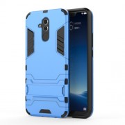 Cool Guard PC TPU Hybrid Mobile Phone Cover Case with Kickstand for Huawei Mate 20 Lite - Baby Blue