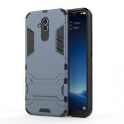 Υβριδική Θήκη Συνδυασμού Σιλικόνης TPU και Πλαστικού με Βάση Στήριξης για Huawei Mate 20 Lite - Σκούρο Μπλε