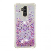 Glitter Powder Quicksand [Shockproof] TPU Gel Back Casing for Huawei Mate 20 Lite - Light Purple