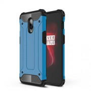For OnePlus 6T Cool Armor Guard Plastic + TPU Hybrid Case Cover - Baby Blue